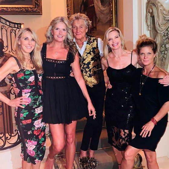Rod Stewart reunió a sus cuatro ex: las madres de siete de sus hijos, en una misma foto