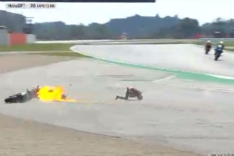 Impresionante accidente en el Gran Premio de Gran Bretaña de MotoGP: la caída de Quartararo y Dovizioso