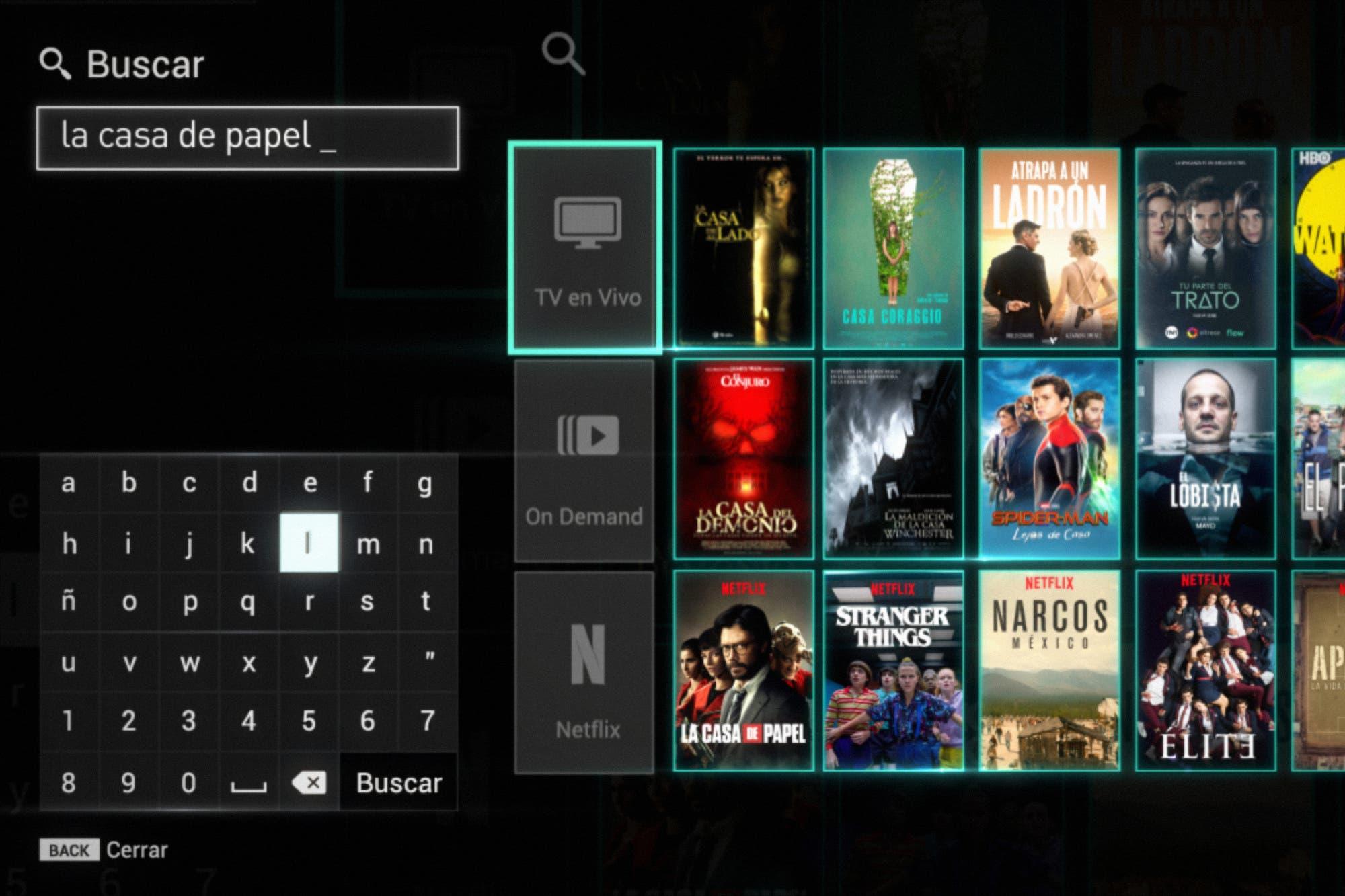 Streaming integrado: los contenidos de Netflix ya están disponibles en el buscador de Flow