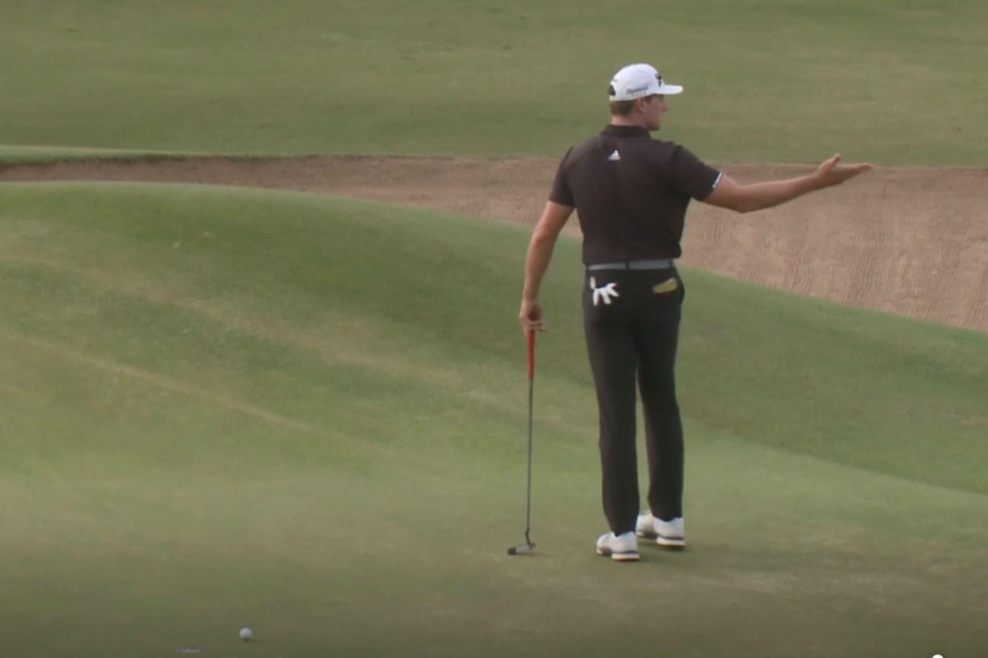 Golf: le hizo perder el Abierto, pero después tuvo un gran gesto con el espectador