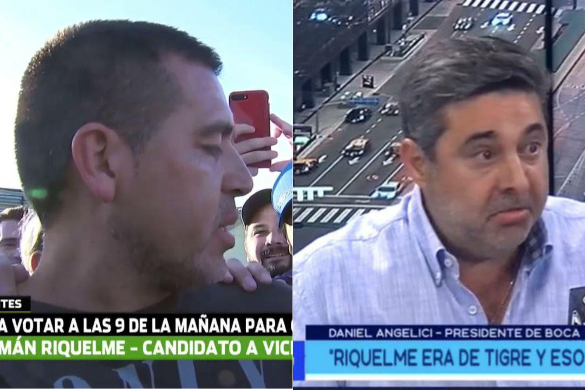 Guerra sucia en las elecciones en Boca: de la ironía de Riquelme a un periodista a las acusaciones de Angelici
