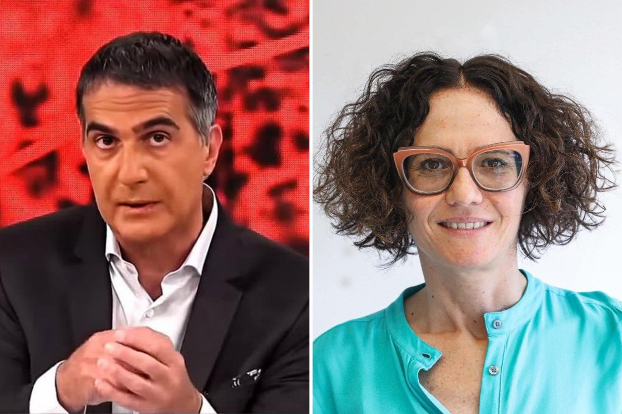 """Momento tenso. Cecilia Todesca con Antonio Laje: """"Vemos una recuperación del salario real"""""""