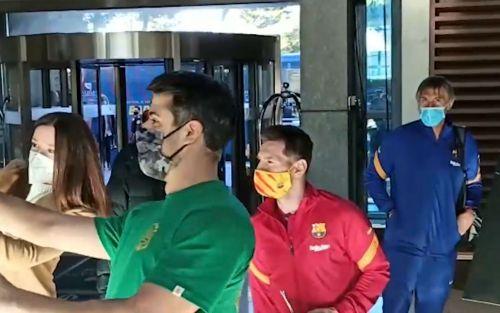 El gesto de Messi con dos huéspedes de un hotel de Madrid