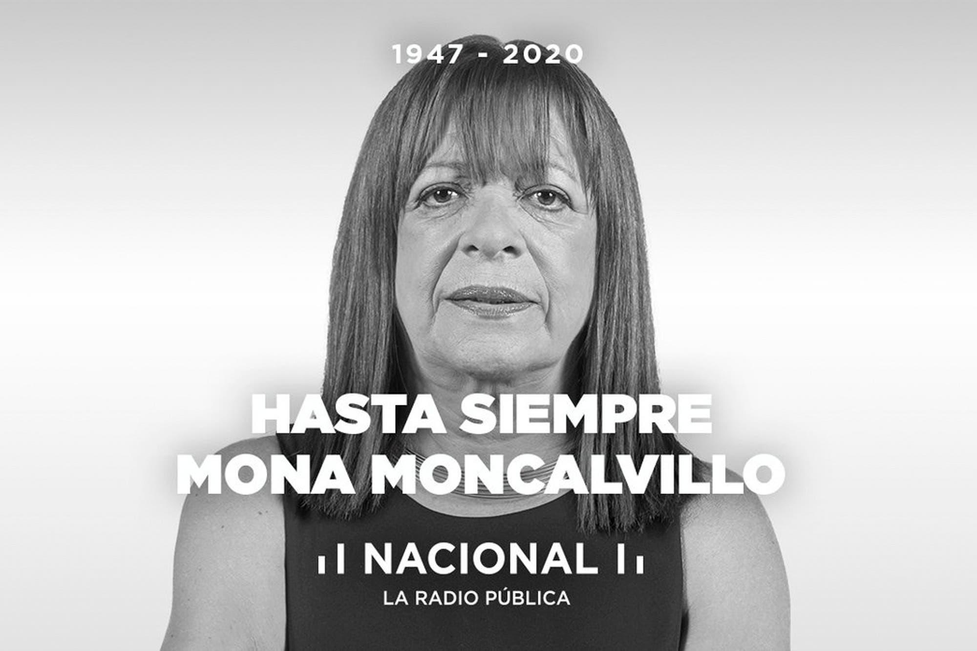 Murió la periodista Mona Moncalvillo, a los 73 años
