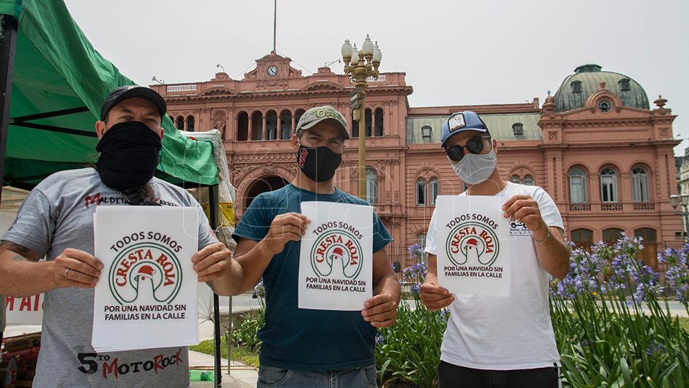 Tras una reunión en Trabajo, empleados de Cresta Roja levantaron acampe en Plaza de Mayo